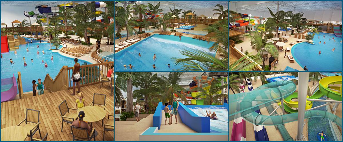 Abri el primer parque acu tico interior de quebec bora for Hotel avec piscine interieur montreal